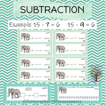Subtraction  determine the missing number  ANSWER KEY included