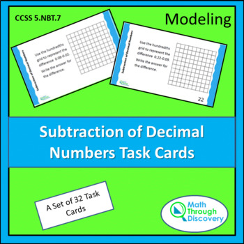 Subtraction of Decimal Numbers Task Cards