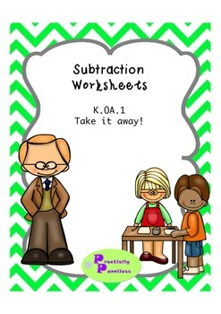 No Prep Subtraction Practice for K-1