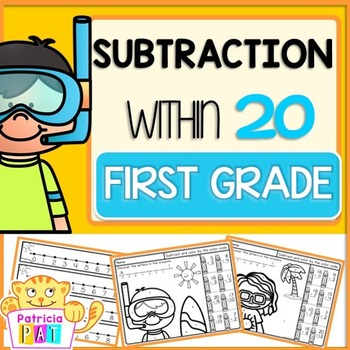 Subtraction to 20 Worksheet Color by Code Summer
