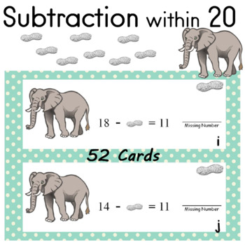 Subtraction to 20 Operations and Algebraic Thinking (Answe