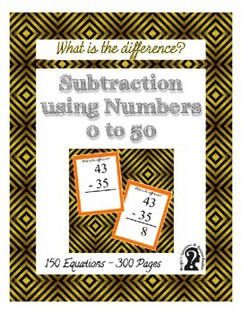 Subtraction using Numbers 0 to 50 ~ 150 Equations in this