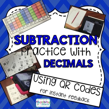 5th Grade Math Centers: Subtraction Practice with Decimals Packet