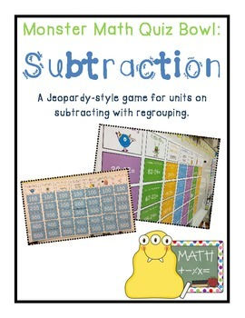 Subtraction with Regrouping (A Jeopardy-Style Review Game)