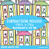 Subtraction with Regrouping Activity Cards