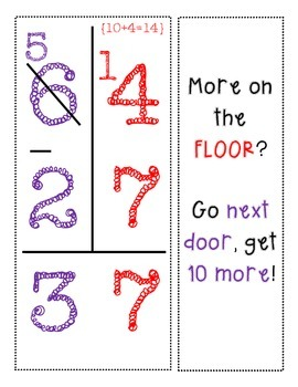 Subtraction with Regrouping CHANT {Math Interactive Notebook}