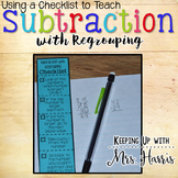 Subtraction with Regrouping - Checklist