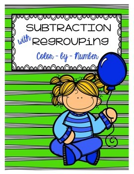 Subtraction with Regrouping Color by Number