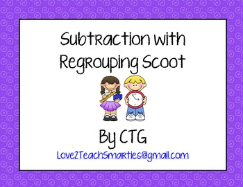 Subtraction with Regrouping Scoot