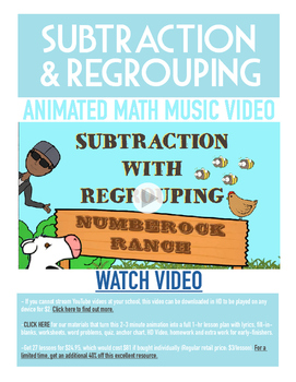 Subtraction with Regrouping | FREE Poster, Worksheet & Fun