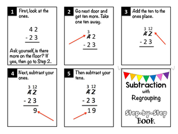 Subtraction with Regrouping Step-by-Step Book