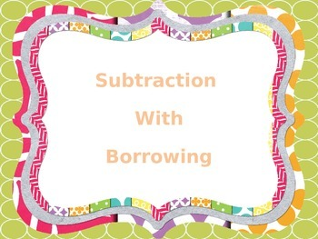 Subtraction with Borrowing Task Cards