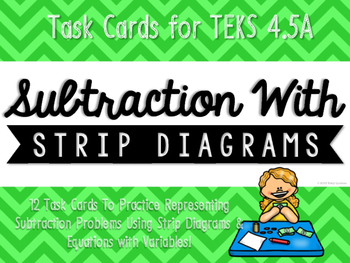 Subtraction with Strip Diagrams & Equations Match-Up Cards