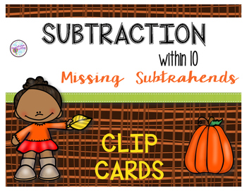 Subtraction within 10: Missing Subtrahends