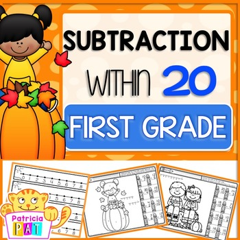 Color by Code Subtraction to 20 Worksheets Fall