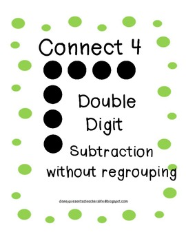 Subtraction without regrouping activity