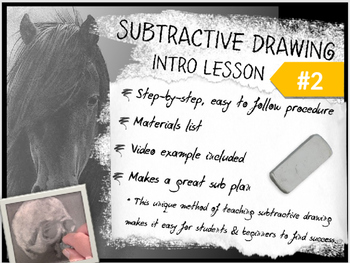 Subtractive / Reductive Charcoal Drawing Intro Lesson #2 f