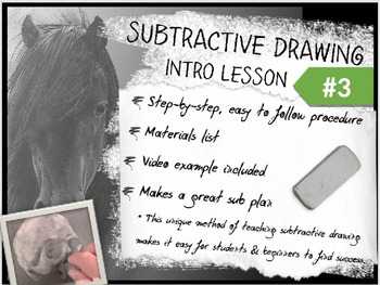 Subtractive / Reductive Charcoal Drawing Intro Lesson #3 f
