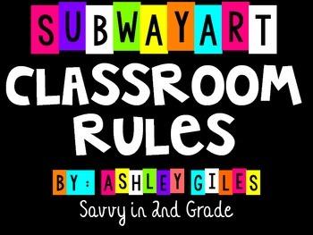 Subway Art Classroom Rules