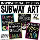 Subway Art Poster Set {Black and Bright Set}