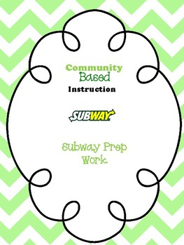 Subway Homework Freebie- For Special Education and Autism