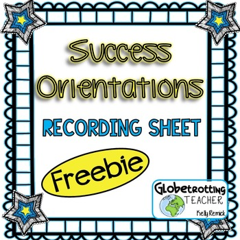 Success Orientations Recording Sheet (FREE)