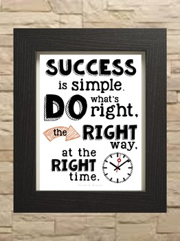 """Inspirational Quote Arnold H. Glasow - """"Success is Simple"""""""