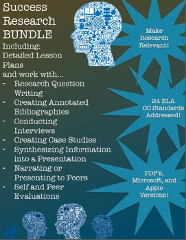 Success Research BUNDLE! Research Questions, Annotated Bib