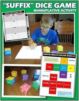 Suffix Dice Game: Engaging Manipulative