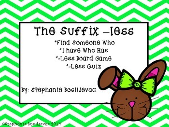 Suffix Less Easter (Find Someone Who, I Have Who Has, Boar