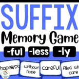 Suffix Match Up Game (less, ly, ful)