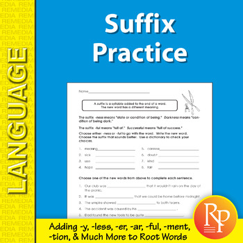 Suffix Practice