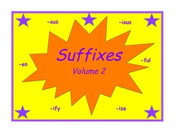 Suffix Practice Packet Volume 2