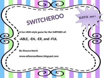 Suffix Switcheroo Deck 1