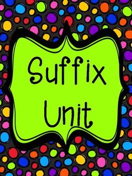 Suffix Unit (no prep printable)