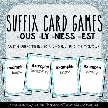 Suffixes CARD GAMES