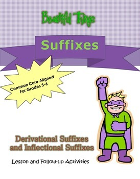 Suffixes Lesson and Activities, Ready to Print and CCSS Aligned!
