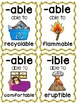 Suffixes Posters and Picture Cards for Center Activities
