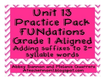 Suffixes Practice Pack