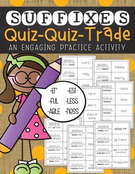 Suffixes Quiz-Quiz-Trade
