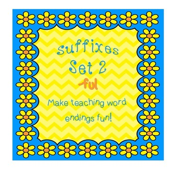"""Suffixes Set 2 for Little Kids! """"ful"""" ending! Fun! Engaging!"""