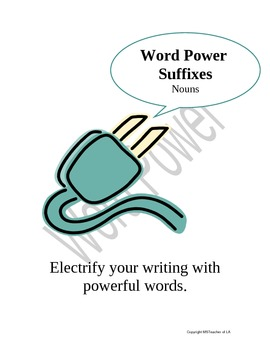 Suffixes -- Vocabulary -- Noun Word Power