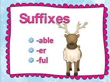 Suffixes Powepoint :-er,-able,-ful