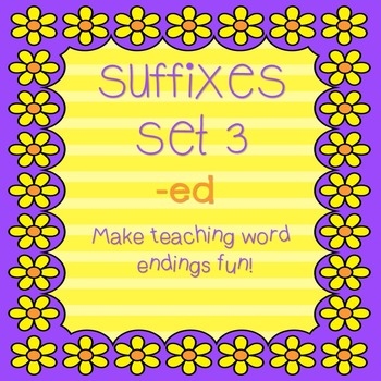 """Suffixes for Little Kids! Set 3 """"-ed""""! Fun & Engaging!"""