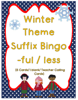 Suffixes -ful and -less Bingo