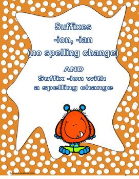 Suffixes ion/ian