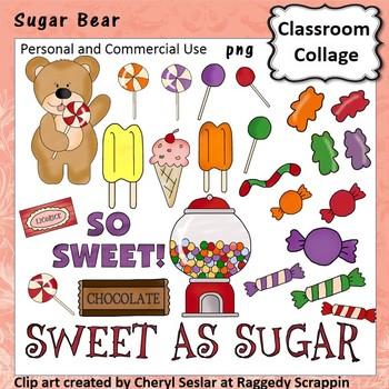 Sugar Bear Clip Art personal & commercial use C Seslar
