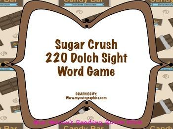 """Sugar Crush 220 Dolch Sight Word """"Bang"""" Game"""