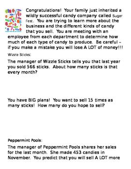 Sugar Fest Word Problems
