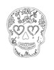 Sugar Skulls: Coloring Pages for Halloween and The Day of